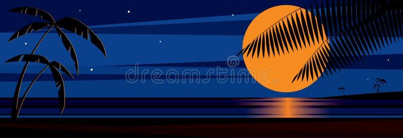 Nightbeach vector illustratie