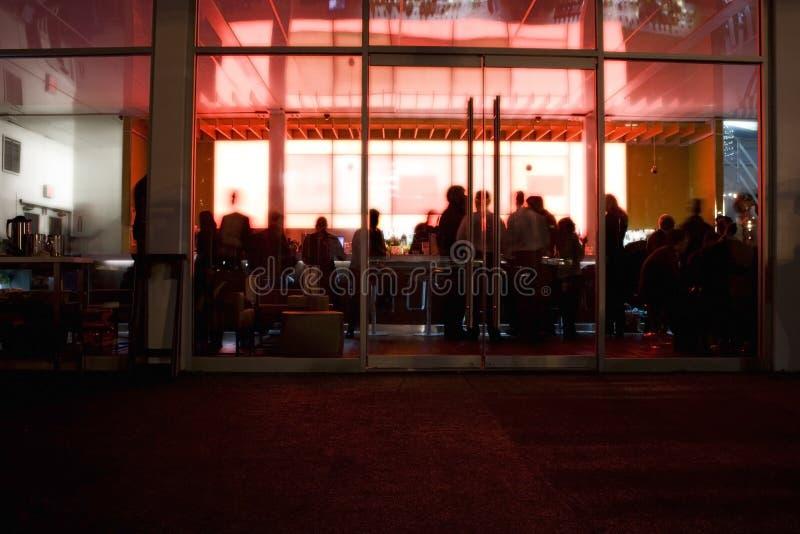 Nightclub. Glowing nightclub in New York City royalty free stock image