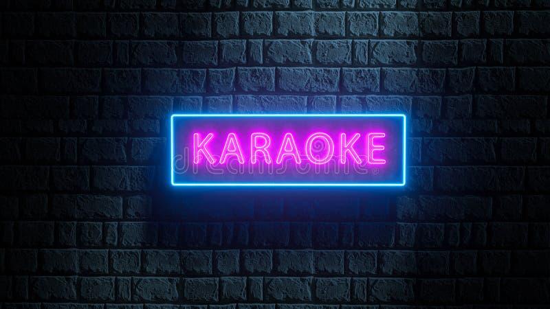 Nightclub, bar muzyczny, karaoke reklamy na żywo nelboard 3d renderowanie w neon street style ilustracji