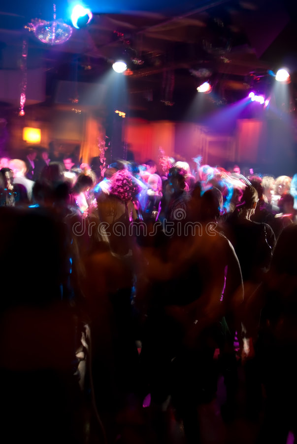 Nightclub Dance Crowd stock photo
