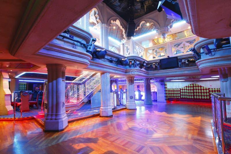 Nightclub dance floor. Empty nightclub with dance floor royalty free stock images