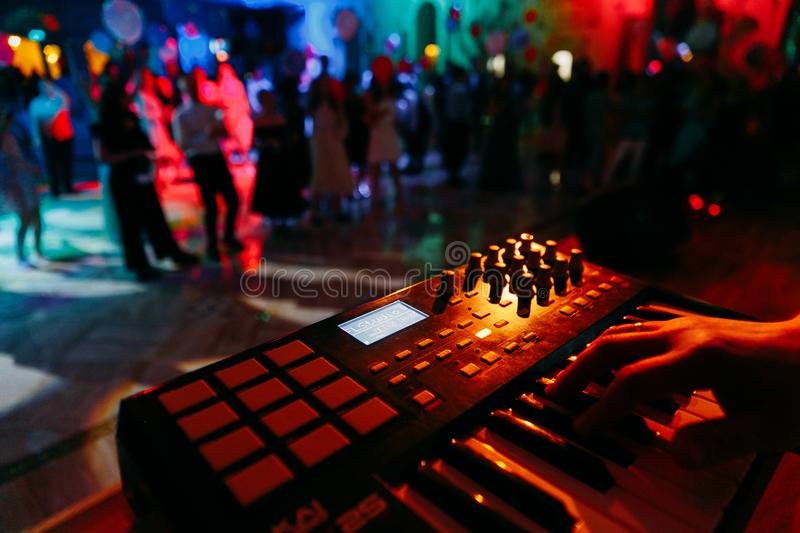 Nightclub parties stock image