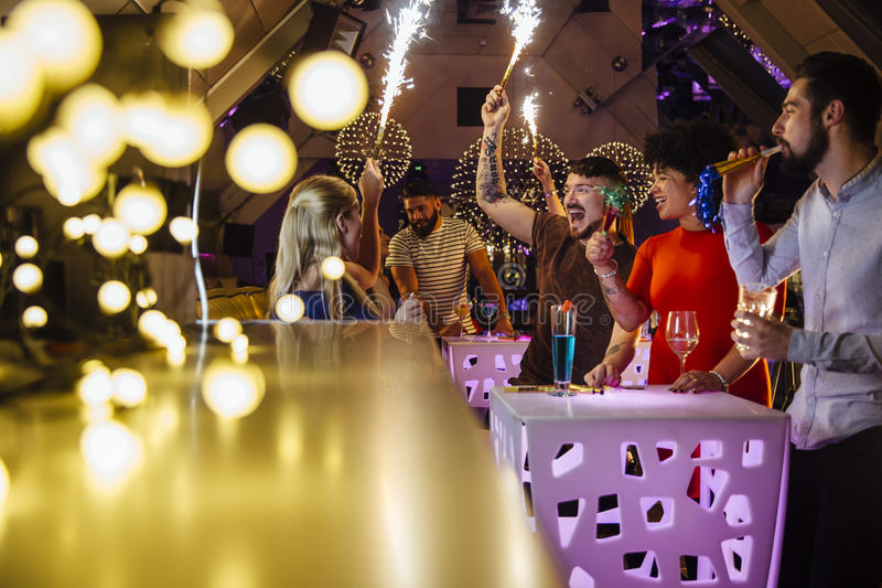 Nightclub Partying With Friends royalty free stock photography