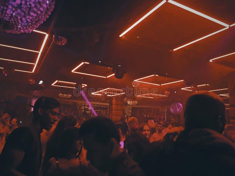 Nightclub scenes stock image