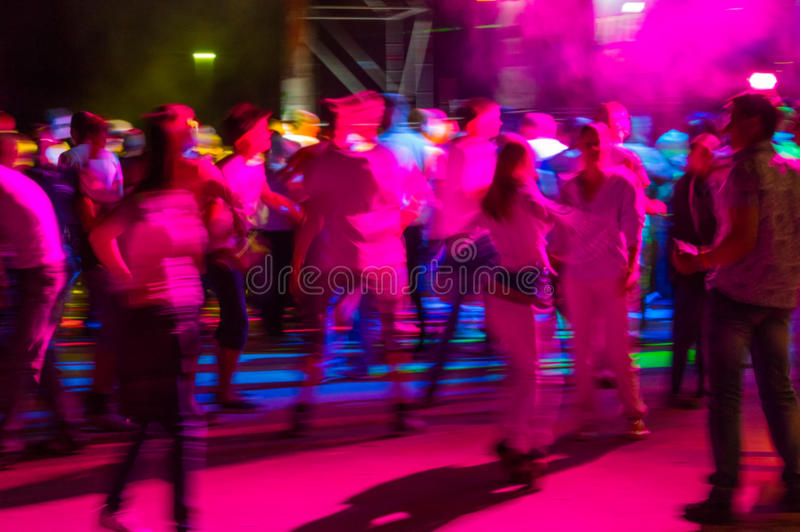 Nightclub. Youth in the music entertainment nightclub shows and dances royalty free stock image