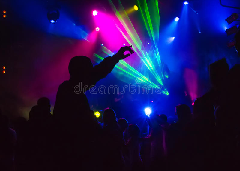 Nightclub. Youth in the music entertainment nightclub shows and dances royalty free stock photography