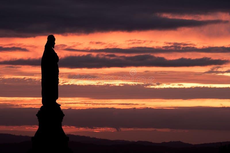 Nightfall in Bom Jesus. Braga (Portugal royalty free stock photos