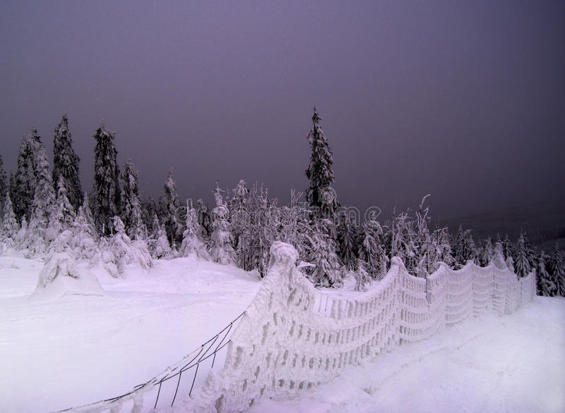 Download Nightfall, Snowy Landscape Royalty Free Stock Photos - Image: 12592088