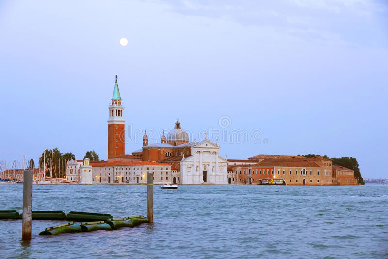 Download Nightfall in Venice stock image. Image of dark, bell - 26543553