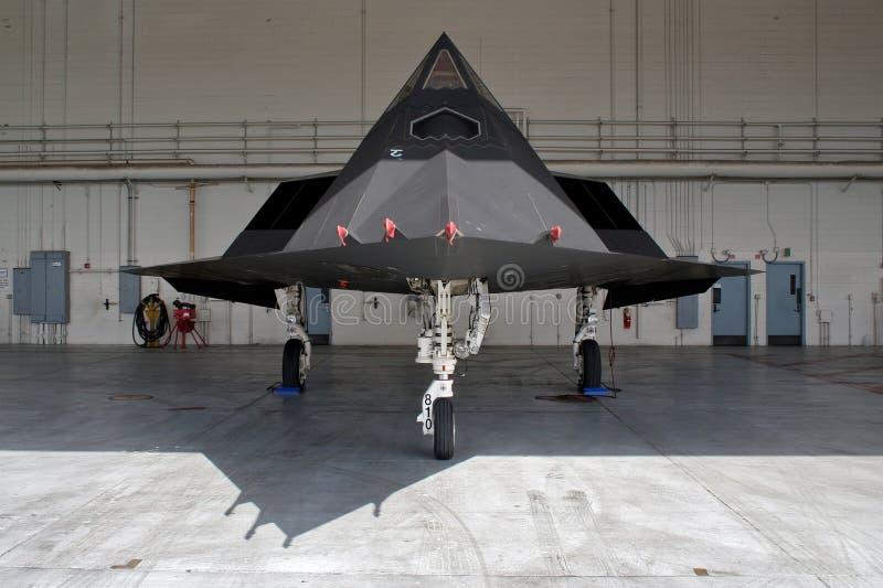 Nighthawk-Tarnkappenjägerjet Lockheed Martins F-117 stockfotos