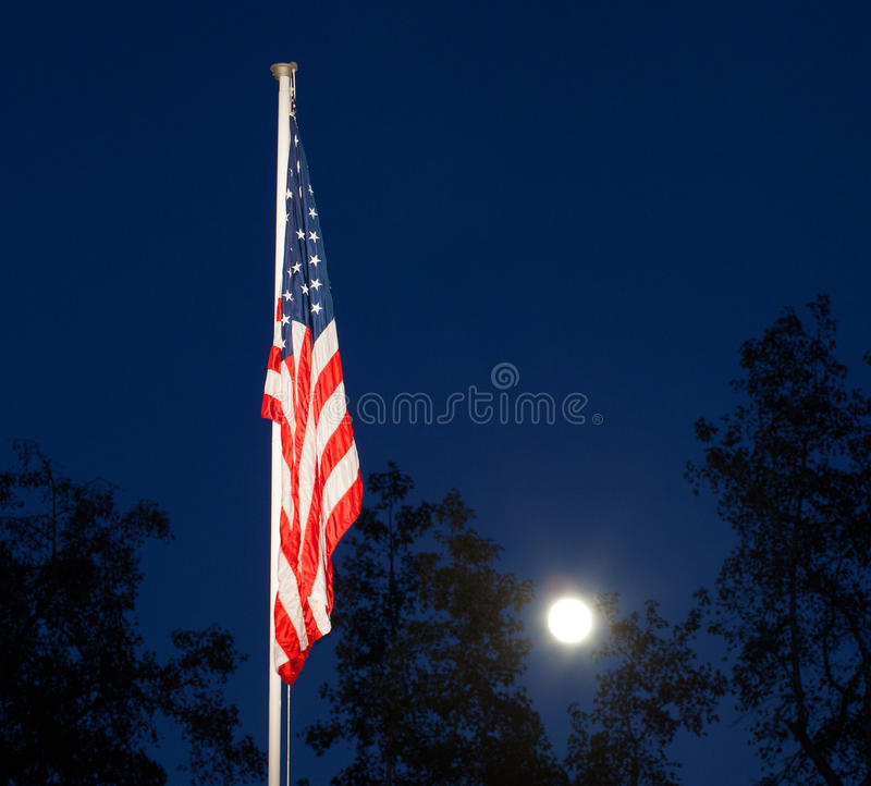 Download Nightime flag stock image. Image of trees, silhouette - 35485003