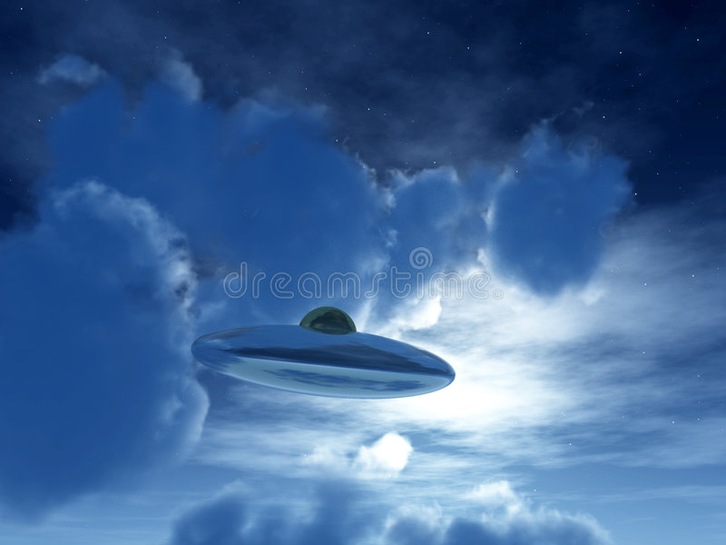Nightime UFO 28 Royalty Free Stock Images