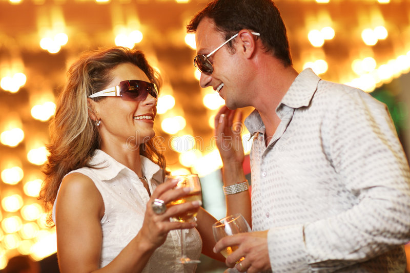 Nightlife Couple Royalty Free Stock Images