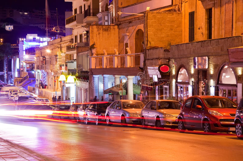 Download Nightlife In Paceville. Malta Stock Image - Image: 17554721