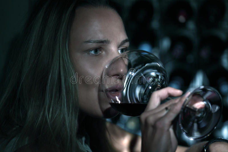 Download Nightlife wine stock image. Image of holding, gulping - 26936687