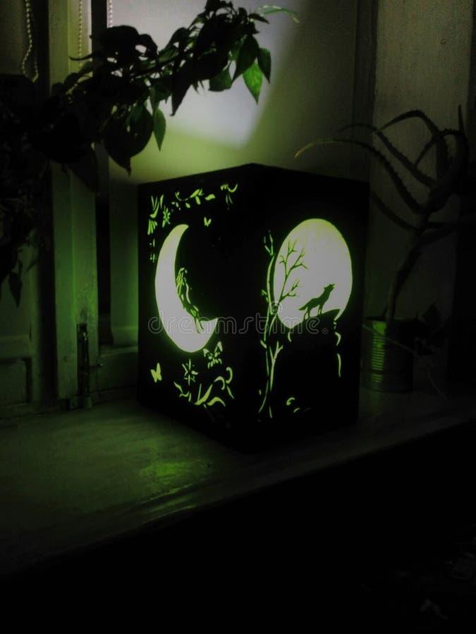 Nightlight con un diagramma fotografie stock libere da diritti