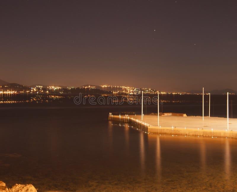 Nightlight krajobraz zdjęcia royalty free
