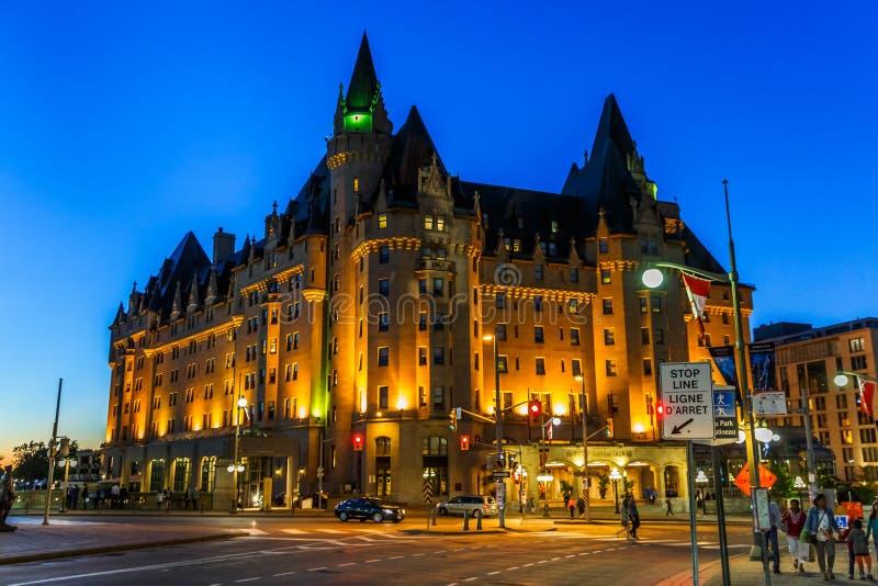 Nightlight, Ottawa céntrica, Ontario, Canadá imágenes de archivo libres de regalías