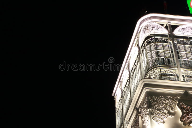 Nightlight in oude stad, Phuket, Thailand royalty-vrije stock foto's