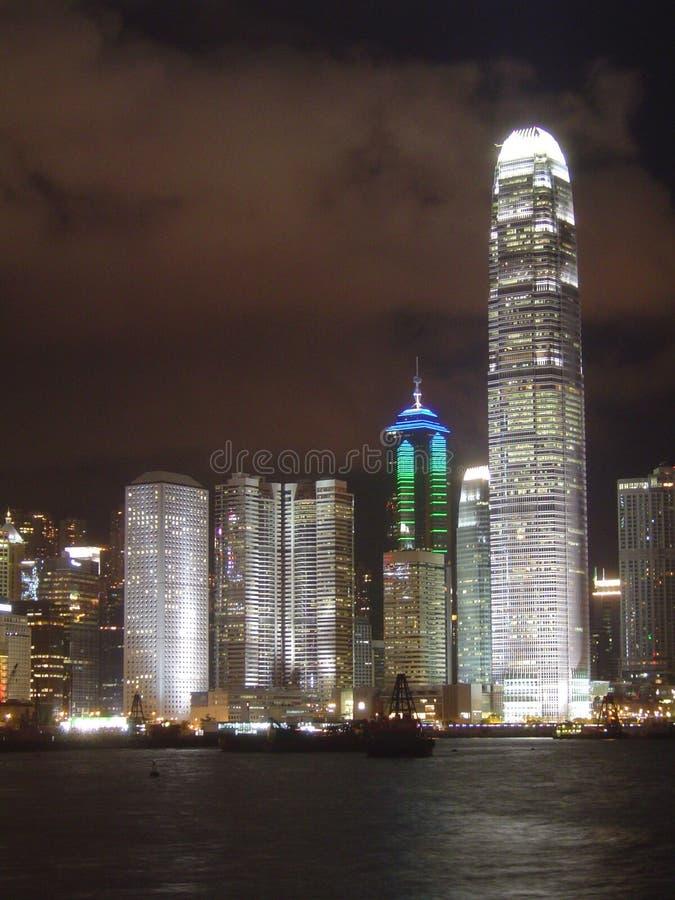 Nightline de Hong-Kong fotos de archivo libres de regalías