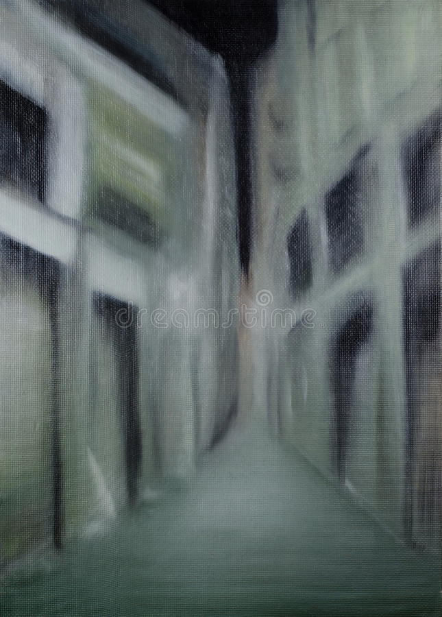 Nightly blurred lane