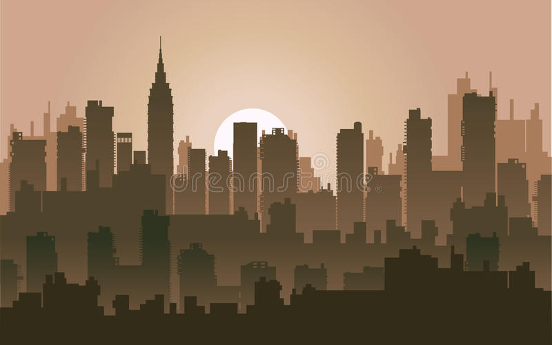 Download Nightly city5 stock vector. Image of industry, downtown - 22099175
