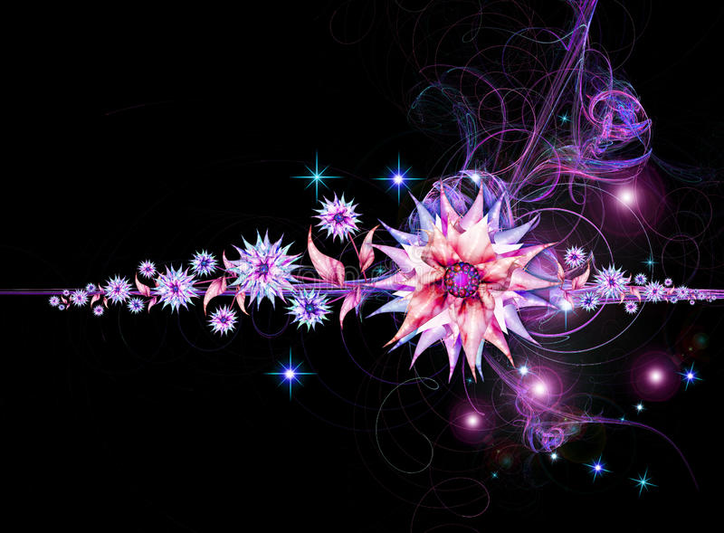 Nightly Floral Background Royalty Free Stock Image