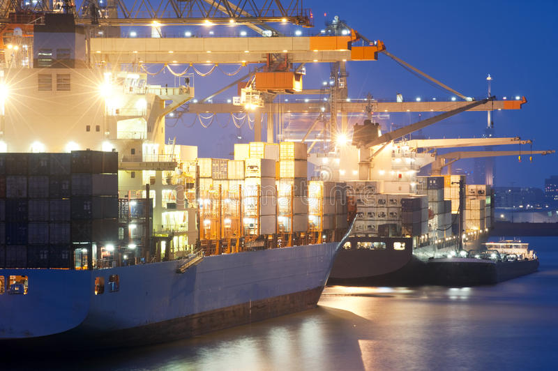 Download Nightly harbor activity stock photo. Image of activity - 14470998