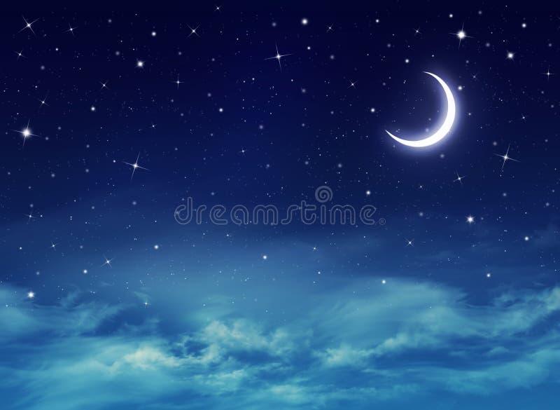 Nightly hemel met sterren stock afbeeldingen