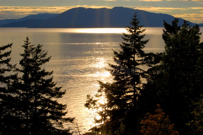 Nightly ocean view stock photo