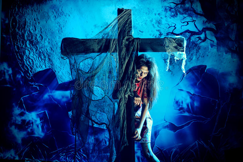 Download Nightmare stock image. Image of grave, gravestone, halloween - 28085105