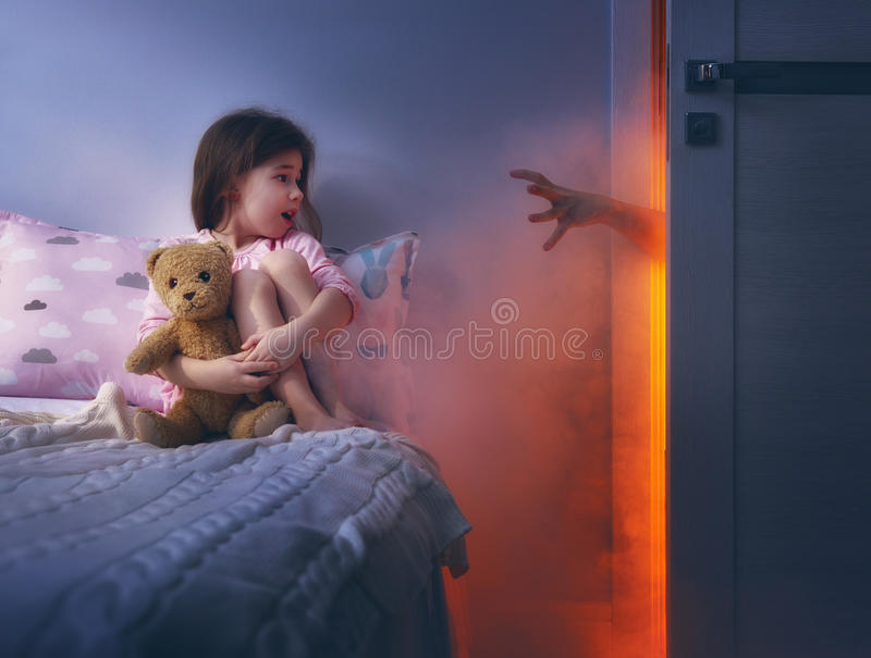 Nightmare for children. royalty free stock photo
