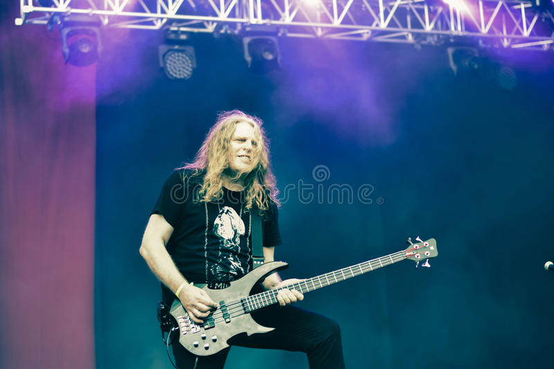 Nightmare Hellfest 2016 heavy metal band. Nightmare is a power metal band, native of Grenoble, France. The band was influenced by the new wave of British heavy royalty free stock photos