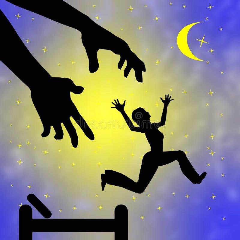 Nightmares and sleep stock illustration