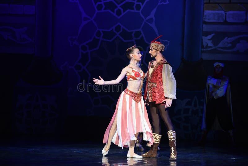 """ Nights†""""One тысячи и одного балета короля и ферзя стоковое изображение"""