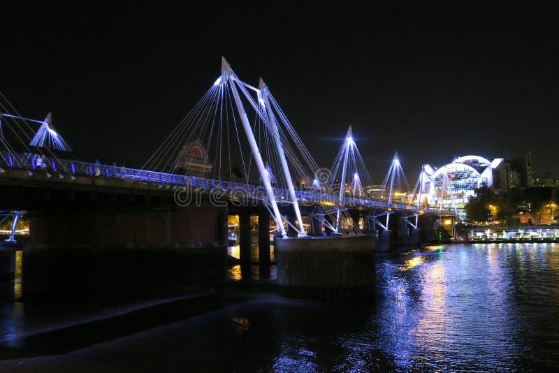 Nightscape av London royaltyfri bild