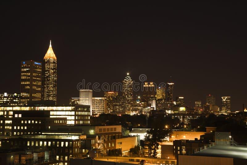 Nightscape d'Atlanta photos libres de droits