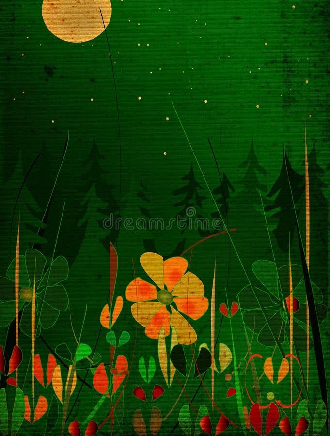 Nightscape de Grunge libre illustration