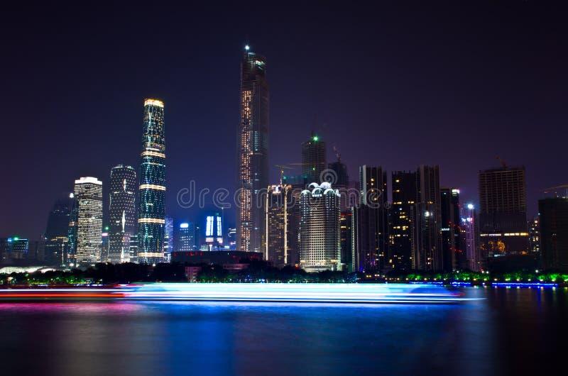 nightscape de guangzhou de porcelaine image libre de droits