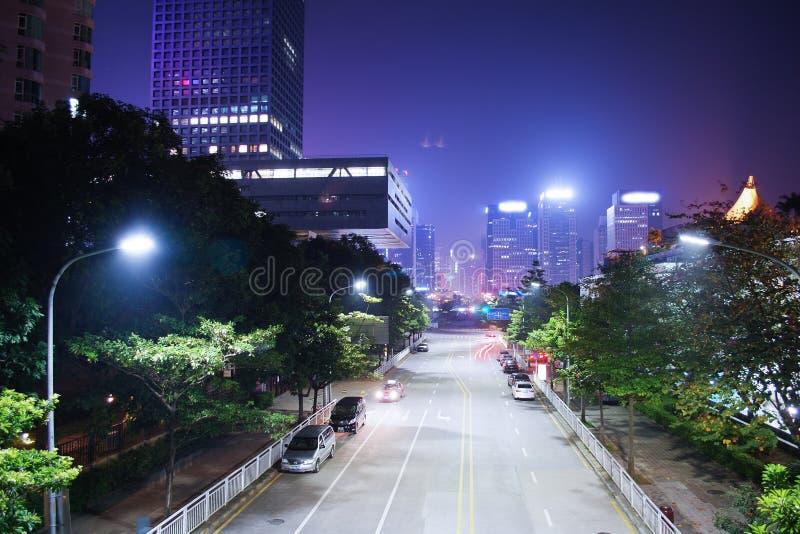 Nightscape de la ciudad fotos de archivo libres de regalías