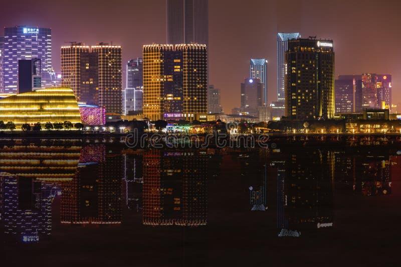 Nightscape de la ciudad de China imágenes de archivo libres de regalías