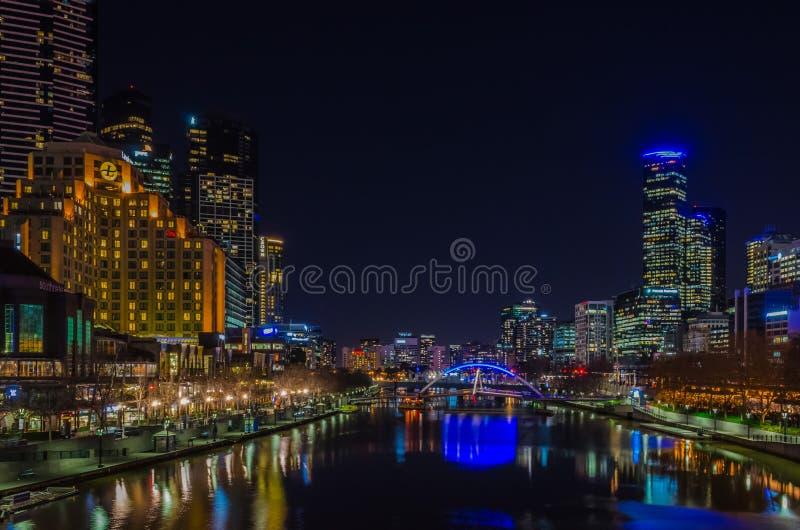 Nightscape de Melbourne imágenes de archivo libres de regalías