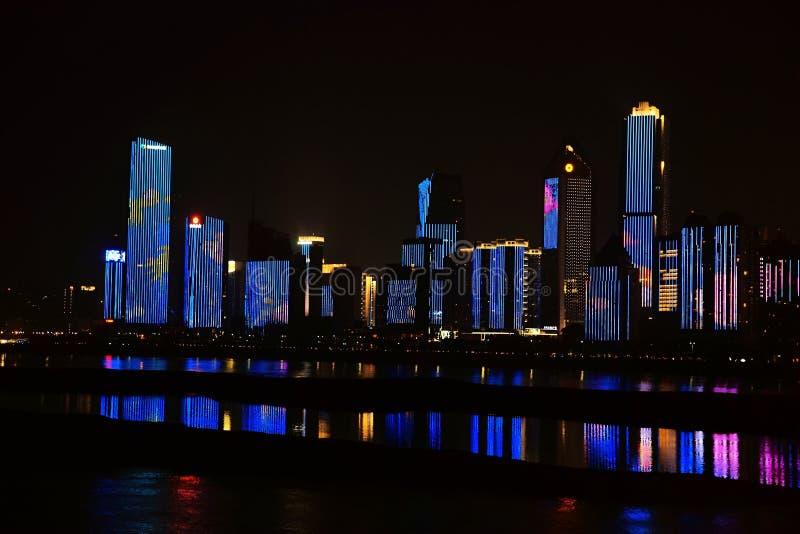 Nightscape de Nan-Tchang images stock