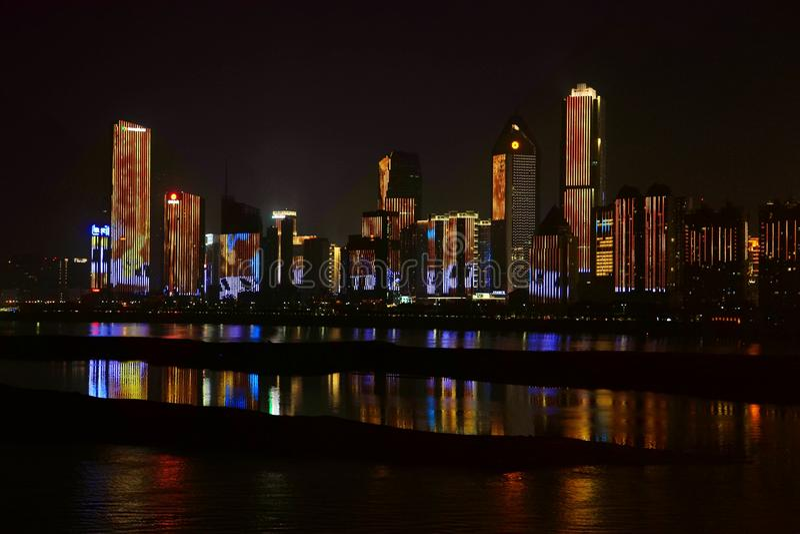 Nightscape de Nan-Tchang photo stock