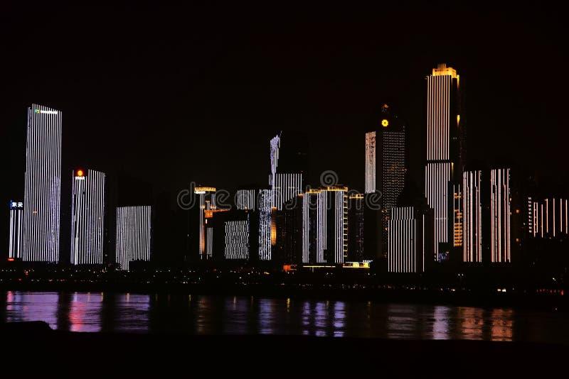 Nightscape de Nan-Tchang image libre de droits