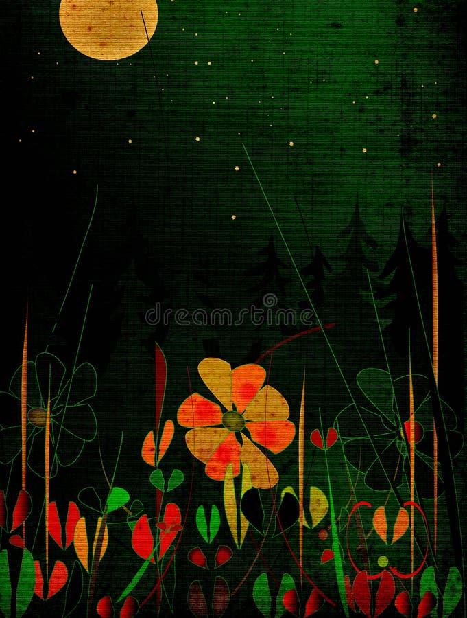 Nightscape di Grunge royalty illustrazione gratis