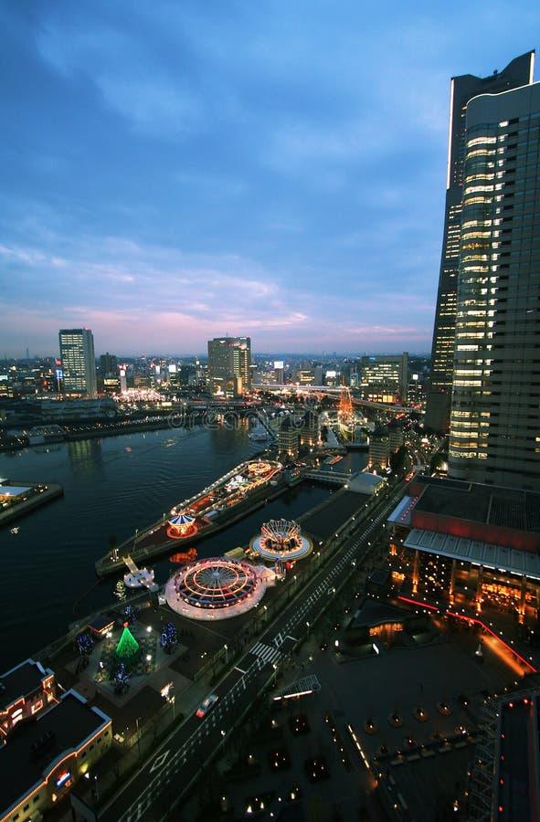 Nightscape di Yokohama fotografia stock libera da diritti