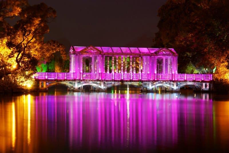 nightscape guilin моста стеклянное стоковые изображения