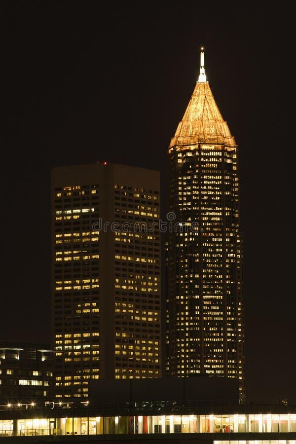 Nightscape orizzonte di Atlanta, Georgia. immagini stock