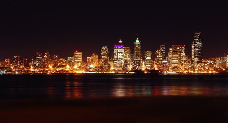 nightscape Seattle fotografia stock